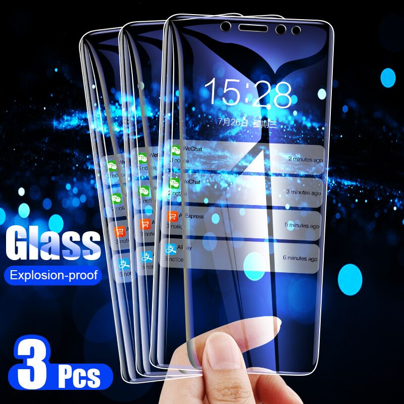 ZNP 3Pcs 9H Full Cover Tempered Glass For Huawei P20 P30 P10 Lite Screen Protection Film For Huawei Mate 20 Lite P Smart Glass