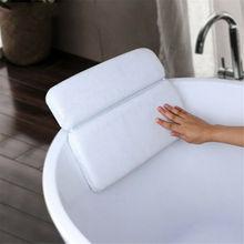 Поролоновая подушка для ванны, подголовник для Спа Шеи, подушка для спины с 7 присосками, мягкие расслабляющие подушки для ванной