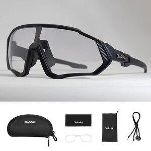 Image 3 - Photochrome Radfahren Sonnenbrille Männer & Frauen Outdoor sport Fahrrad Brille Fahrrad Sonnenbrille Brille Brillen Gafas Ciclismo 1 Objektiv