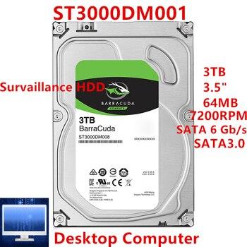 "Nowy dysk twardy dla Seagate marki BarraCuda 3TB 3.5 ""SATA 6 Gb/s 64MB 7200RPM dla wewnętrzny dysk twardy dla pulpitu HDD dla ST3000DM001"