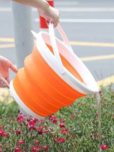 Folding-Bucket Square Car-Wash Silicone Camp for Fishing-Promotion Outdoor Round