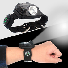 Portable LED Wrist Watch Flashlight Torch Light USB Charging Wrist Model Tactical Rechargeable Night Run Bicycle Riding Light portable xpe led 1000lm display rechargeable wrist watch flashlight torch waterproof