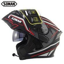 Bluetooth Helmet Face Helmets Visor Full Face Moto
