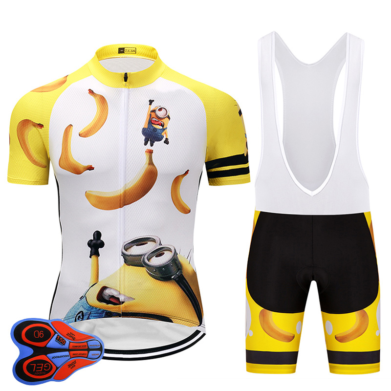 2020 Men's Cartoon Cycling Jersey MTB Shirt <font><b>bike</b></font> Clothing Shorts Sets Ropa Ciclismo <font><b>Bike</b></font> <font><b>Wear</b></font> Clothes Maillot Culotte image