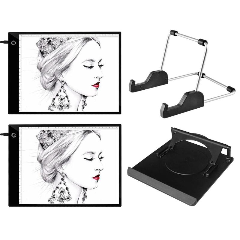 A4 LED Drawing Tablet A4 Stepless Dimming Digital Graphics Copy Board USB Light Electronic Painting Writing Art Tracing Pad