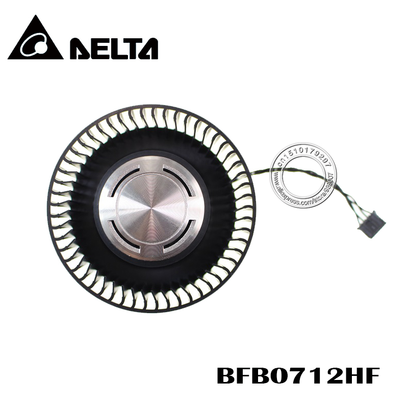 Free Shipping BFB0712HF 65mm 12V 1.8A For NVIDIA GTX Titan GTX980 980Ti Graphics Card Cooling Fan 4Pin 4Wire