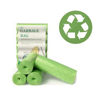 Biodegradowalne worki na śmieci produkty ekologiczne jednorazowe na kosz na śmieci dom i kuchnia kosz na śmieci kompostowalne dobre gospodarstwo domowe tanie i dobre opinie CN (pochodzenie) Płaska typu Green 45X50cm Ecological starch-based kitchen home Ecological products disposable bags