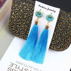 2020 новые модные серьги с кисточками Boho богемные длинные преувеличенные милые животные Сова Слон Висячие серьги для женщин оптовая продажа