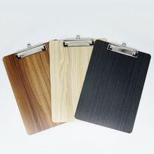 Przenośny A4 A5 drewniany schowek na dokumenty teczka na dokumenty teczka na dokumenty biurowe tanie tanio OOTDTY Drewna Clip Board Wood color Black Brown A5 A4