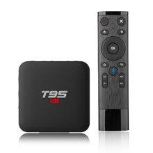 Smart Android 7.1 TV Box 2GB 16GB H.264 HD Media Player T95 S1 2.4G Wifi Wireless Amlogic S905W quad-core Set Top Box стоимость