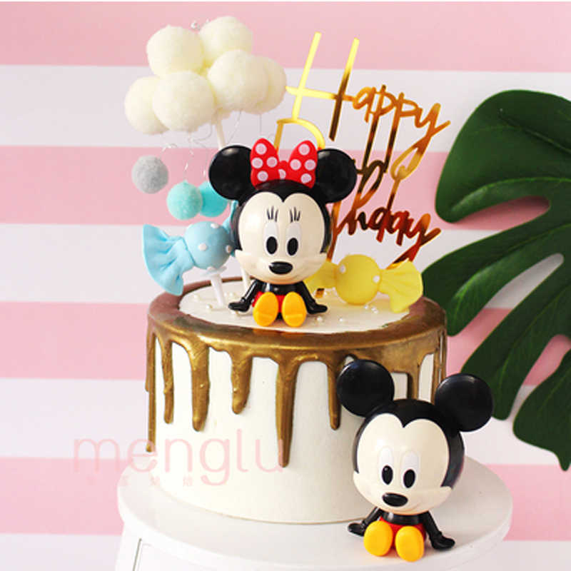 Cartoon Cake Mickey Minnie Baking Decoration Baby Birthday Party Decoration Supplies Mickey Minnie Birthday Gift Girl Boy Cake Decorating Supplies Aliexpress