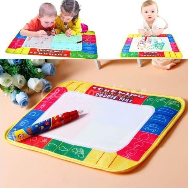 Children Doodle Drawing Toys Painting Mat + Water Drawing Magic Pen Kids Early Educational Toys Painting Writing Board Mat Gift