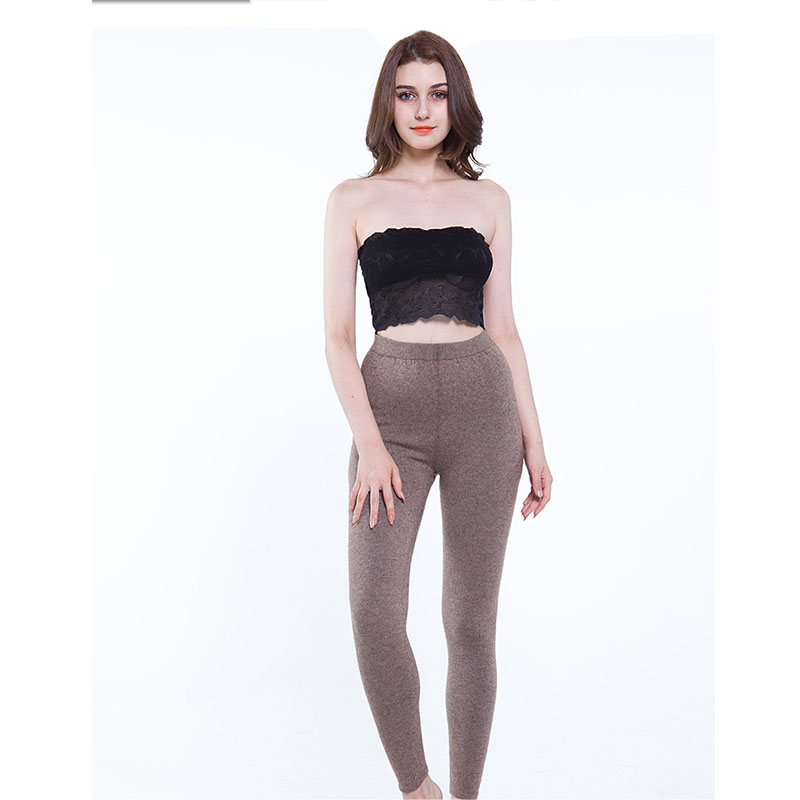 New Winter Pants Women 2019 Ladies New Knitted Cashmere Pants Solid Color High Waist Cashmere Pants Womens Clothing Streetwear in Pants amp Capris from Women 39 s Clothing