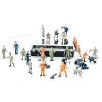 Rowsfire 1:87 Figures Model Mini Railway Worker Model Toy For Sand Table Building Model Pattern Random