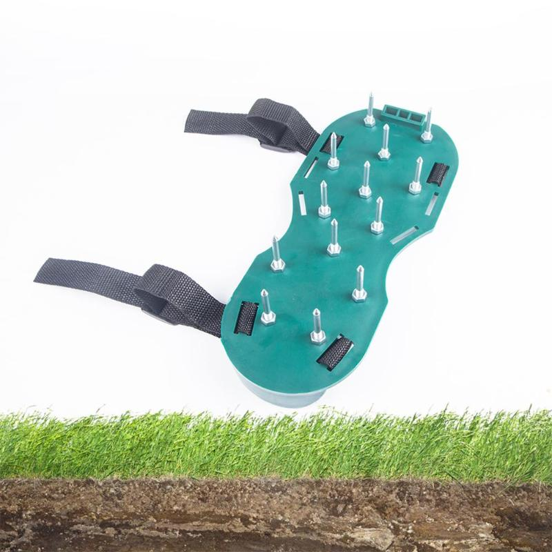 2pcs Lawn Scarify Tool Garden Loose Soil Shoes Nail Shoes Garden Yard Grass Lawn Aerator Nail Shoes Tool