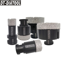 цена на DT-DIATOOL 5pcs/pk M14 Thread Dry Vacuum Brazed Diamond Drilling Core Bits Hole Saw Drill Bits for Ceramic Tile  Marble Stone