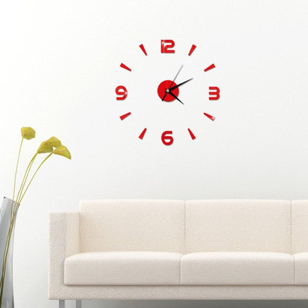 2019 New 3D Wall Clock Mirror Wall Stickers Fashion Living Room Quartz Watch DIY Home Decoration Clocks Sticker reloj de pared 20