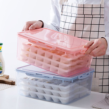 multi-layer dumpling box refrigerator freezer storage household frozen wonton  container cereals