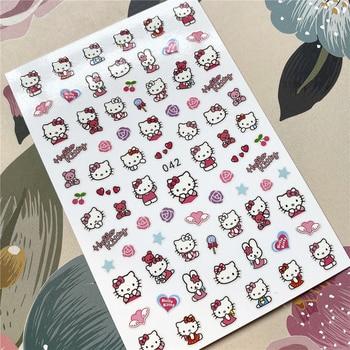 FEB-042-043 Cartoon cat Robot cat 3D Back glue Nail decal Nail sticker Nail decoration Nail art Nail tool Nail ornament