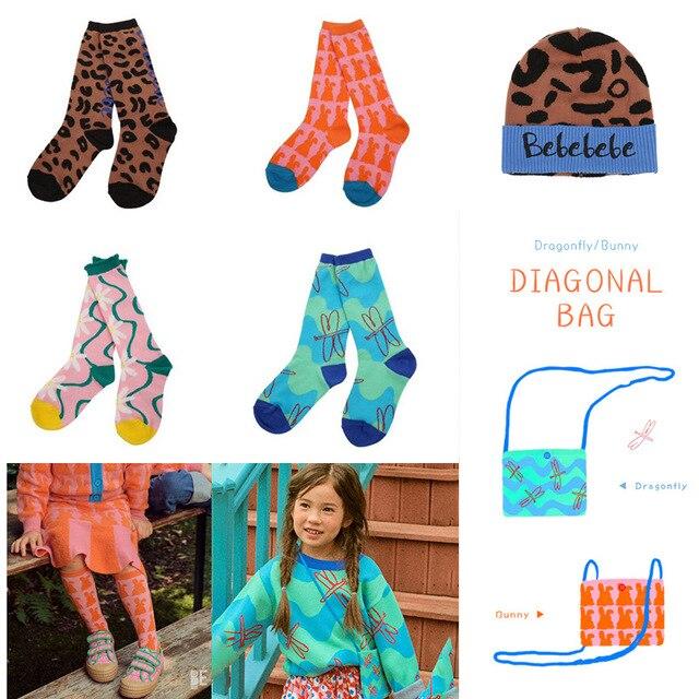 New Arrivals Infant Knee High Socks Baby Floor Sock Kids Frilly Socks Korean Japan Style Tube Girls Socks BEBEBE Design Newborn 1