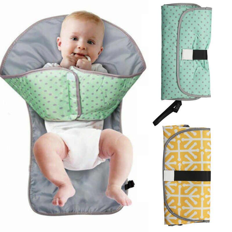 Infantil dobrável urina esteira 3-em-1 multifuncional portátil à prova dnappágua fralda fralda mudando almofada camas do bebê carrinhos carros almofada