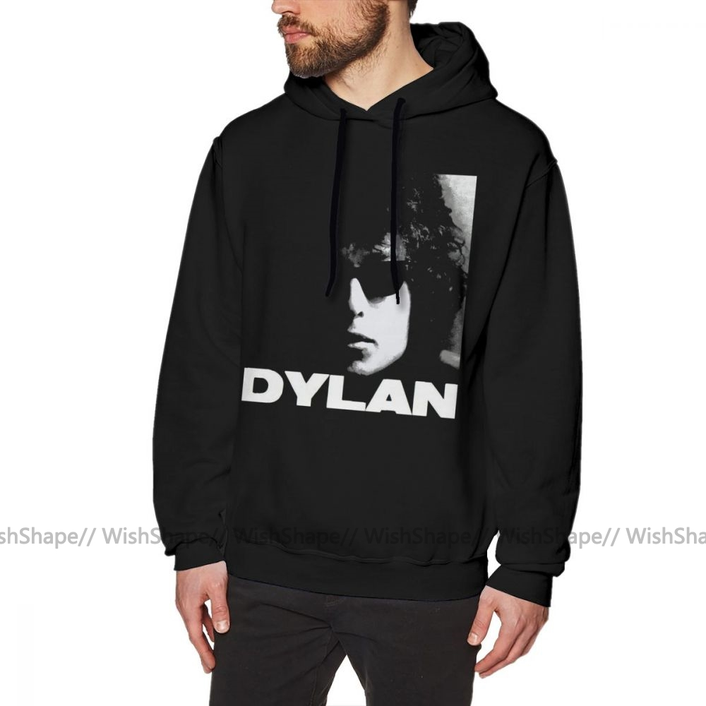 Bob Dylan Hoodie Bob Dylan Hoodies Streetwear Mens Pullover Hoodie Casual Long Sleeve Over Size Blue Cotton Warm Hoodies
