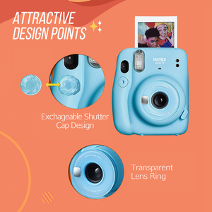 Image 3 - Fujifilm instax mini 11 mini11 Instant Camera Film Cam MINI9 MINI 9 without Battery Birthday Christmas Gift for Boys Girls