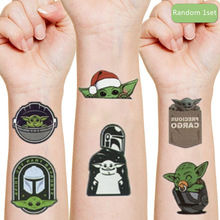 Yoda baby Disney original Tattoo stickers random 1PCS action figure Star Wars child Cartoon boys girls Christmas birthday gifts