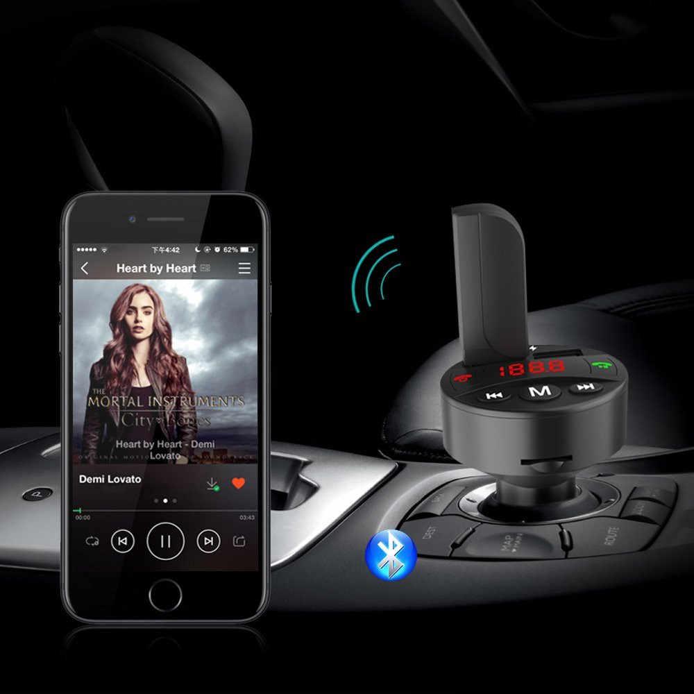 Mini bezprzewodowy samochód odtwarzacz bluetooth przenośny bezprzewodowy zestaw głośnomówiący bluetooth samochodowy nadajnik FM