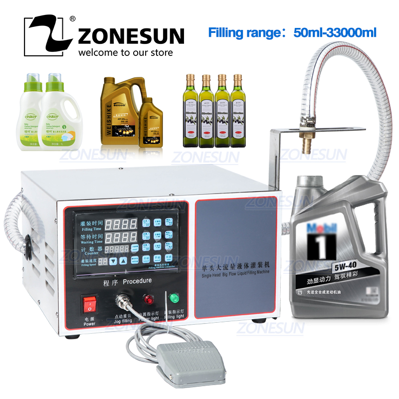 ZONESUN GZ-GFK17C Automatic Filling Machine Laundry Hand Sanitizer Shampoo Machine Oil Water Milk Liquid Bottle Filling Machine