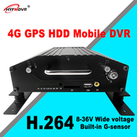 HYFMDVR Factory wholesale 4 channel mdvr 4G SD MDVR with GPS Tracking Mobile car DVR bus /taxi