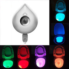 8 Colors Change LED Toilet Seat Night Light Smart Human Motion Sensor Activated Waterproof WC Lamp Lamp Battery Powered(China)