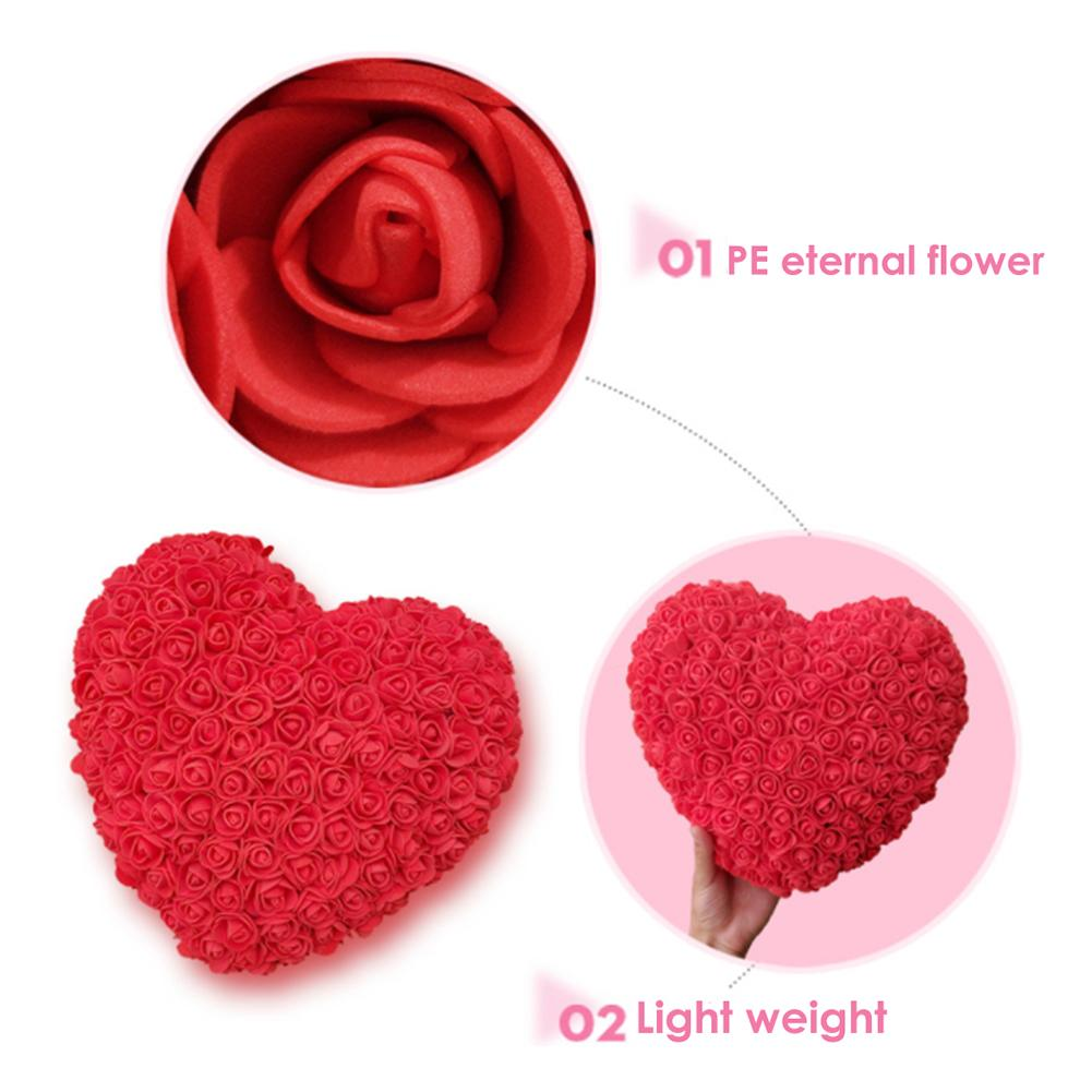 Preserved Rose Heart Flower Gift Box - novariancreations.com