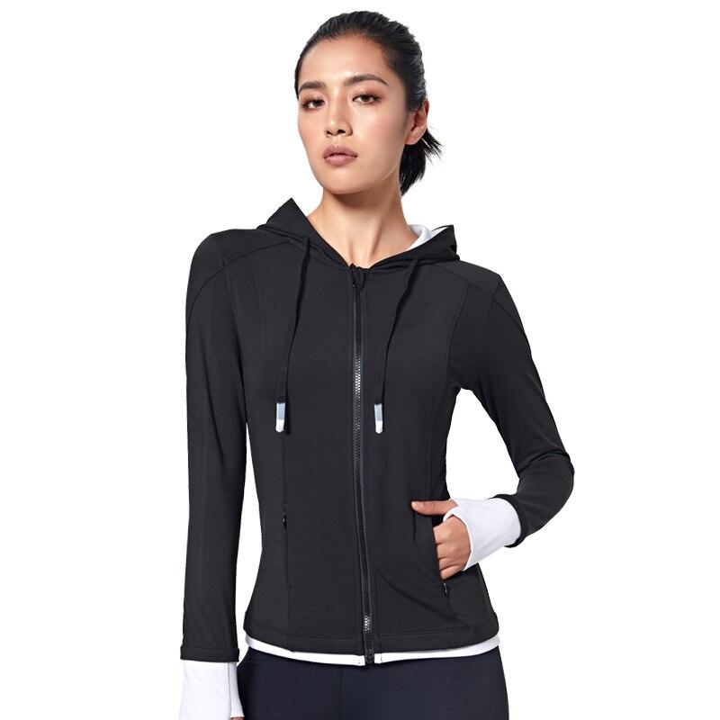 Женская куртка с капюшоном для бега спортивная одежда свитшот