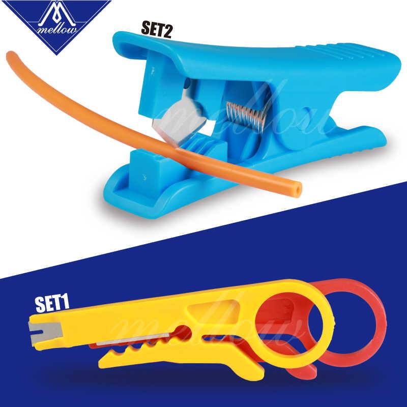 Yumuşak Mini taşınabilir PTFE tüp kesici tel striptizci bıçak 3d yazıcı TeflonT tüp hotend i3 ender 3 ekstruder kiti araçları