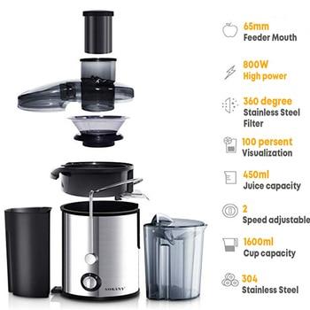 800W 220V Electric Juicer Stainless Steel Juicers Whole Fruit Vegetable Food-Blender Mixer Extractor Machine 2 Speed Adjustment 2