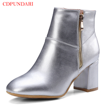 CDPUNDARI Zipper ankle boots for women High heel boots women Round Toe Winter boots shoes woman botas mujer nancyjayjii purple ruffles knee high boots zipper winter round toe spike heels women shoes woman botas botines zapatos mujer
