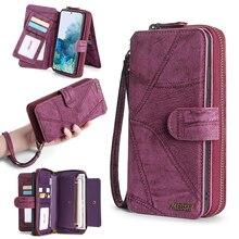 MEGSHI آيفون 11 حافظة محفظة بولي Leather جلد متعددة الوظائف حقيبة يد حافظة هاتف آيفون 6 6S Plus 7 8 X Xr XS 11Pro Max SE2020