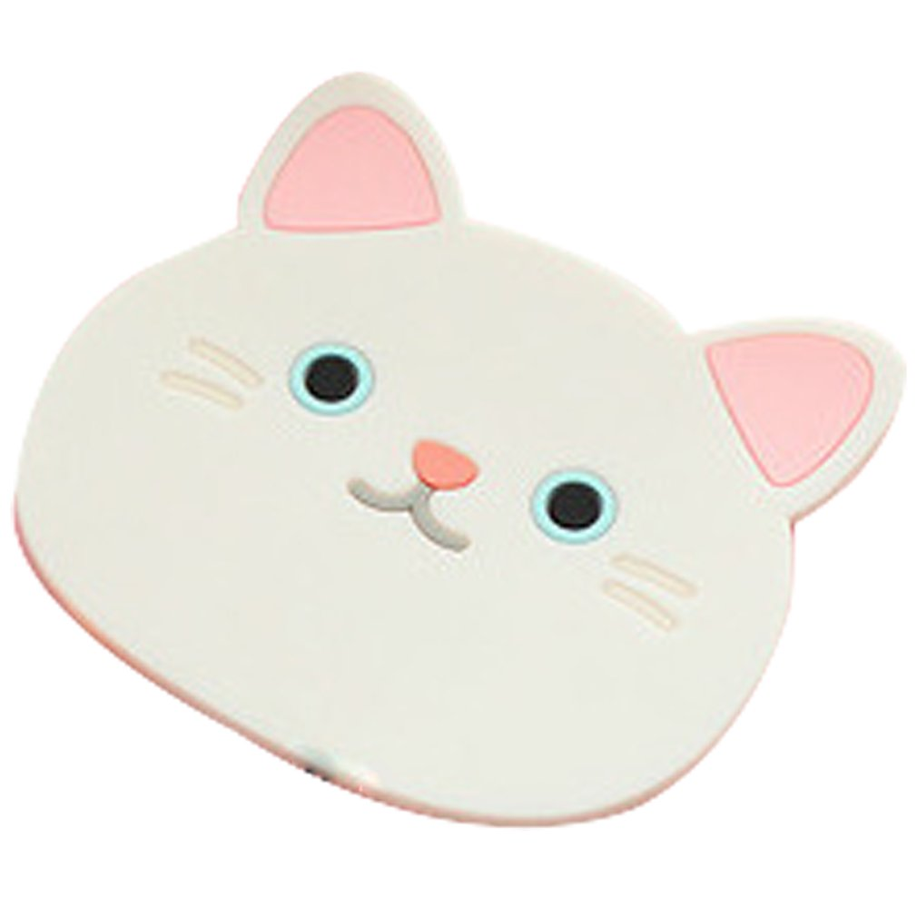 Silicone Insulation Pad Antiskid Cup Mat Dining Table Placemat Coaster Cartoon Cute Cat Drink Pad Kitchen Accessories