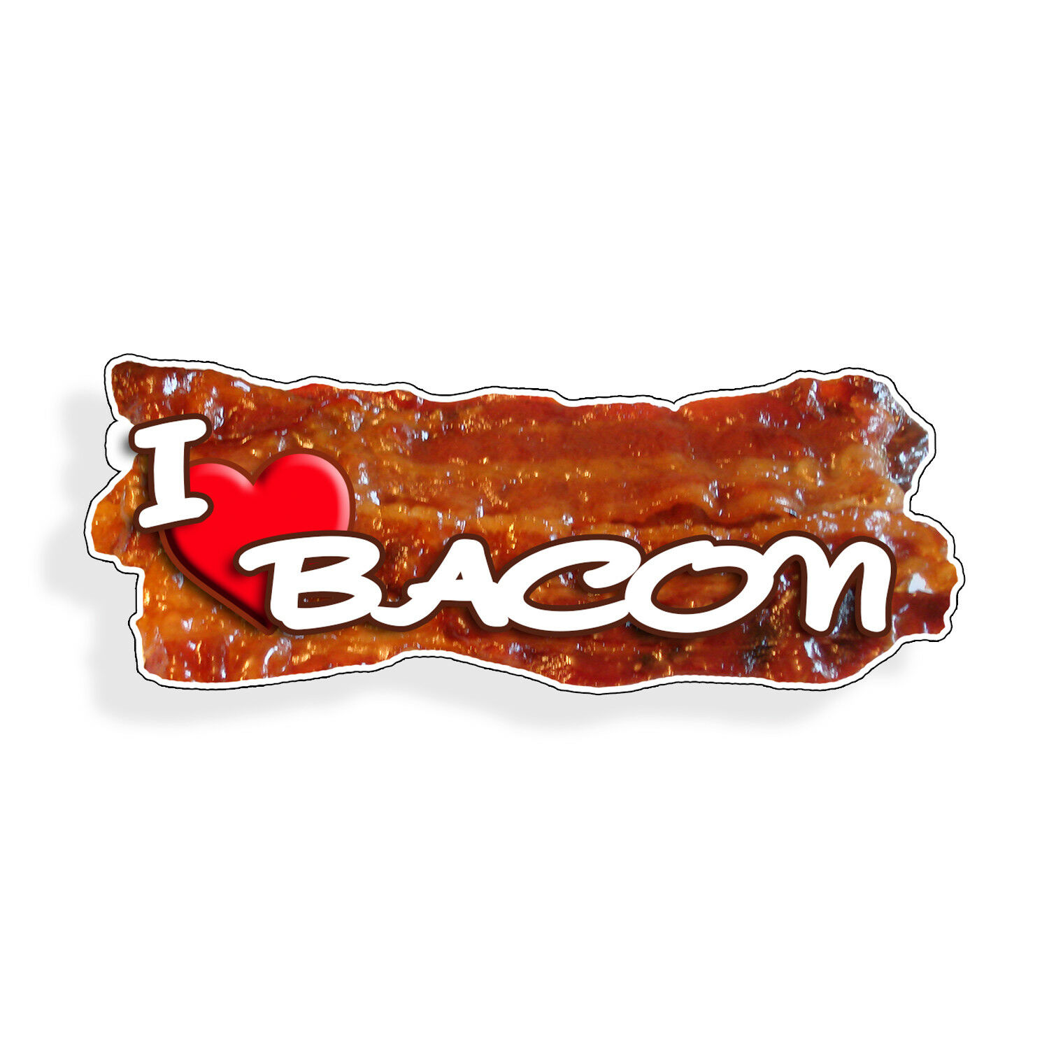 Funny, I like bacon food stickers, Keto diet car window, insurance cup decal cooler wall decals