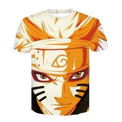 Nowy 2020 Aikooki 3D Naruto t koszula mężczyźni/kobiety moda Streetwear Hip Hop Harajuku 3D drukuj Naruto męska koszulka ubrania góry 1