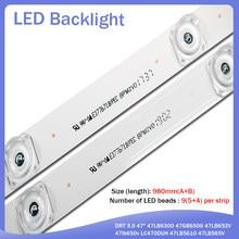 98cm Lâmpada LED Backlight tira leds Para LG 47 9