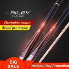 New Arrival RILEY RWEST200 Snooker Stick 9.5mm 9.8mm Deer Tip One Piece Ashwood Cue with Extension Excellent Case
