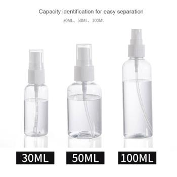 30/50/100ml Transparent Spray Bottle Spray Bottles Portable Bottle Travel Container Refillable Cosmetics Container