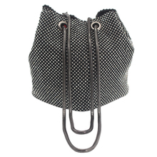 popular woman clutch bags small Korean style diamante crystal rhinestone bucket shape evening bag