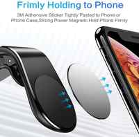 Soporte de teléfono de coche para teléfono en coche soporte de teléfono magnético soporte de montaje para Tablets y Smartphones soporte de teléfono