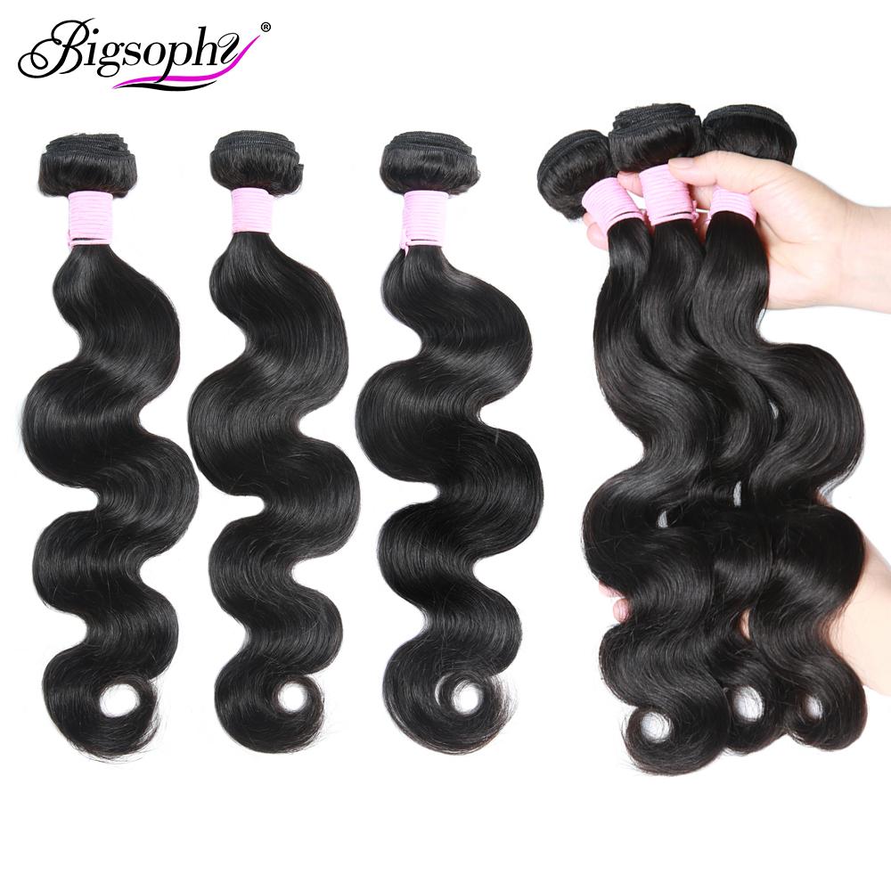 Bigsophy Brazilian Human Hair Bundles Body Wave Bundles Hair 8 - 40 28 32 30 Inch 1 3 4 Deals Bundles Weave Remy Hair Extension