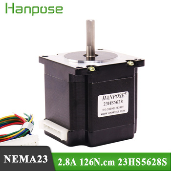 Free shipping 23HS5628S motor 4-lead Nema 23 Stepper Motor 57 Series motor 2.8A 126N.cm For 3D Printer Monitor Equipment 3d printer accessory ultimaker wire feeder kit set with stepper motor top quality free shipping