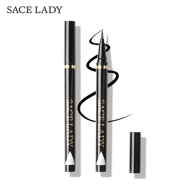 SACE LADY Liquid Eyeliner Waterproof Makeup Black Eye Liner Pencil Long Lasting Make Up Smudge-proof Pen Natural Brand Cosmetic 4