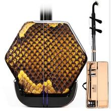 Китайский эрху Две Струны для скрипки скрипка струнный музыкальный инструмент из цельного дерева лук с Чехол Аксессуары для эрху
